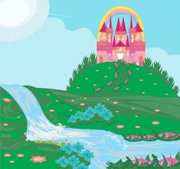 landscape with fairytale castle