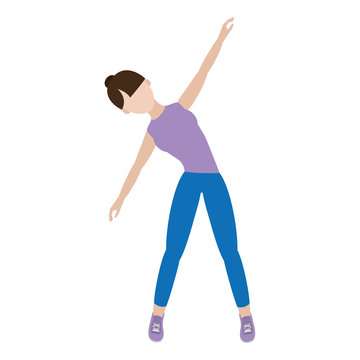 athelete woman fitnes training exercise