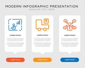 Avatar, Logistics, Presentation infographic