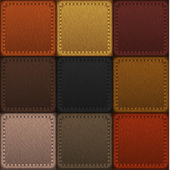 Seamless patched leather texture - vector eps10