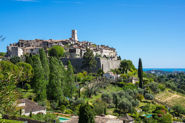 Fototapete - View of Saint-Paul-de-Vence
