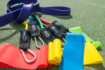 Gummibänder für Gymnastik und Yoga