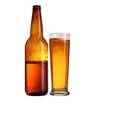 Obraz butelka piwa z kuflem - fototapety do salonu