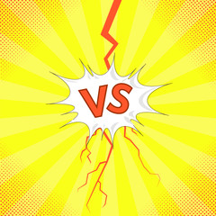 Concept of Confrontation, Together, Standoff, Final Fighting. Versus VS Letters Fight Background