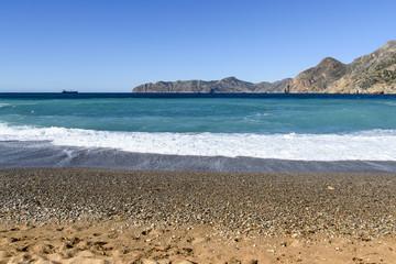 Cartagena beach in Spain.