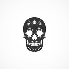 Vector image of day of the dead skull.