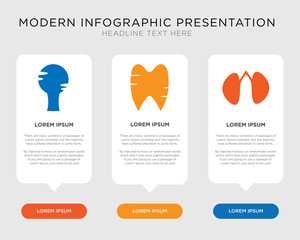 Two Kidneys, Tooth and Gums, Human Head infographic