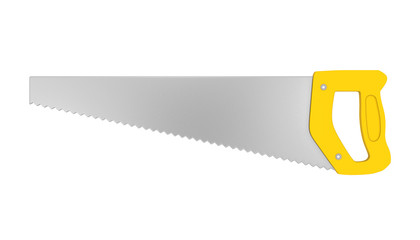Hand Saw Isolated