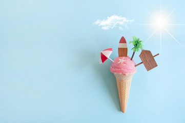 Summer icecream concept