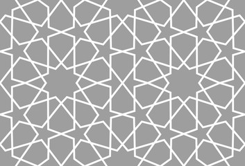 Geometric arabic seamless pattern. Abstract islamic vector background.