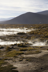 Aguas terrmales de Polques in Bolivia