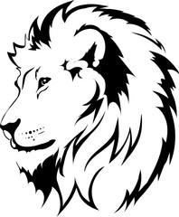 Fototapete - Lion head in vector interpretation 16