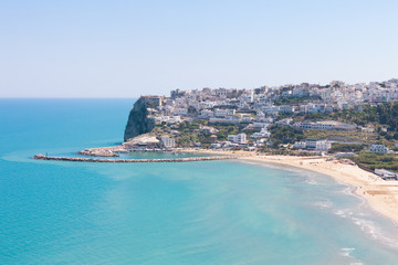 Pescichi, Apulia - Aerial view onto the impressive city of Pescichi