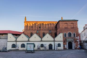 La old Synagogue dans le quartier Juif de Cracovie