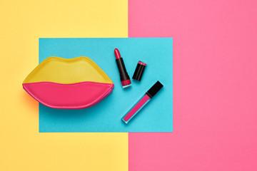 Cosmetic Minimal Makeup Set. Beauty Essentials.