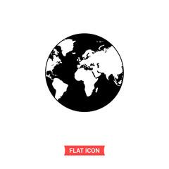 Earth globe icon vector