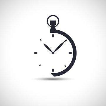 Stopwatch icon simple pocket watch logo vector illustration