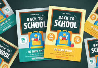 Illustrated Back to School Flyer Layout