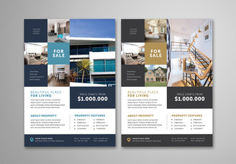 Real Estate Advertising Flyer Layout
