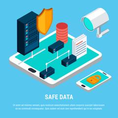 Safe Data Isometric Design Concept