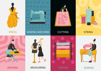 Garment Factory Flat Cards
