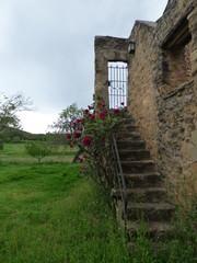 Pubol, castillo de Gala, sepulcro de la mujer de Dali. Pueblo del Emporda  en Gerona, Costa Brava (Cataluña,España)