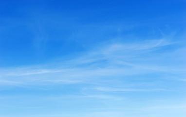 Transparent clouds on blue sky.