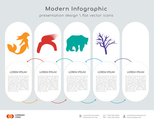 mermaid infographics design