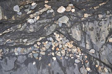 Stones on shoreline