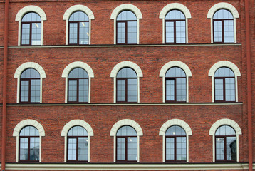 arched brick house windows