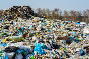 household and grocery and construction garbage in the general heap