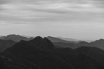 Dhanaulti Hills in Black and White