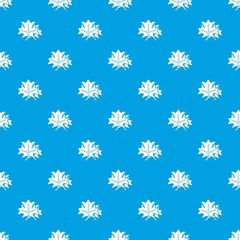 Maple pattern vector seamless blue repeat for any use