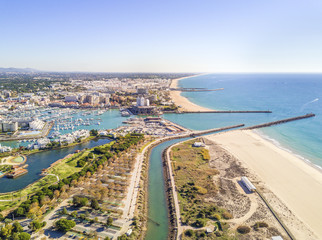 Aerial view of luxurious and touristic Vilamoura, Algarve, Portugal Wall mural