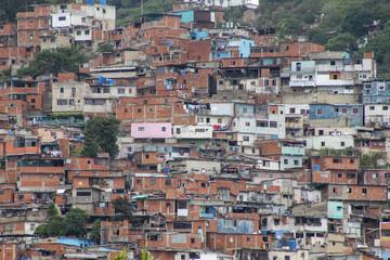 A view shows the slum of El Valle, Venezuela
