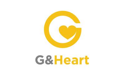 G and Heart Initial / Monogram logo design inspiration