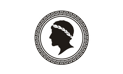 Ancient Greek coin logo design inspiration