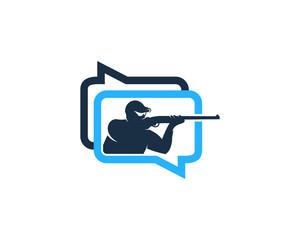 Chat Hunting Logo Icon Design Element