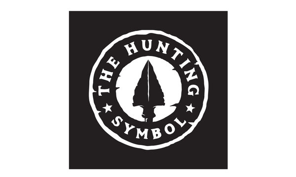 Vintage Retro Hipster Rustic Spear Arrowhead Stamp for Hunting Badge Logo Design