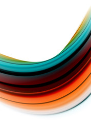 Abstract wave lines fluid color stripes. Vector artistic illustration for poster or web banner