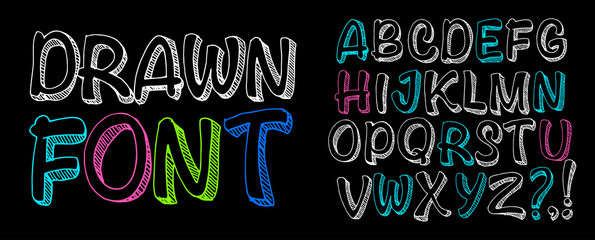 Free drawn font. Chalk board lettering.