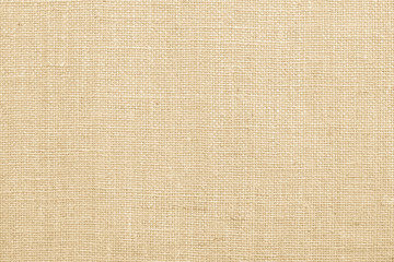 Jute fabric sackcloth burlap texture background beige cream brown color