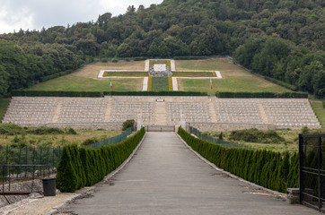 Polish War Cemetery at Monte Cassino - a necropolis of Polish soldiers who died in the battle of Monte Cassino from 11 to 19 May 1944. Italy