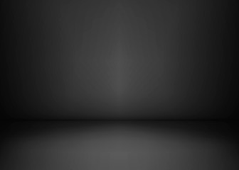 Empty black studio room. Dark background. Abstract dark empty studio room texture. Vector illustration