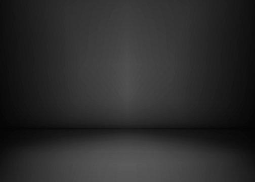 Empty black studio room. Dark background. Abstract dark empty studio room texture. Vector illustration