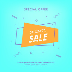 Summer Sale banner. Vector Illustration.