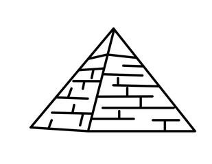 ピラミッド(線画)