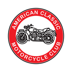 American classic motorcycle logotype. Vector. Illustration.