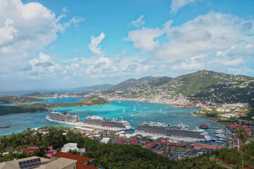 St. Thomas' two ports, Havensight and Crown Bay, U.S. Viirgin Islands