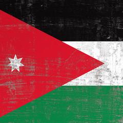 scratched Jordan flag
